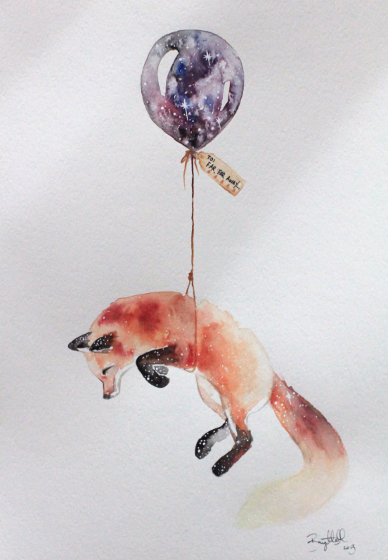 Far Far Away I Nursery Illustration Art Fox Brigitte May Fox Art Animal Art Art