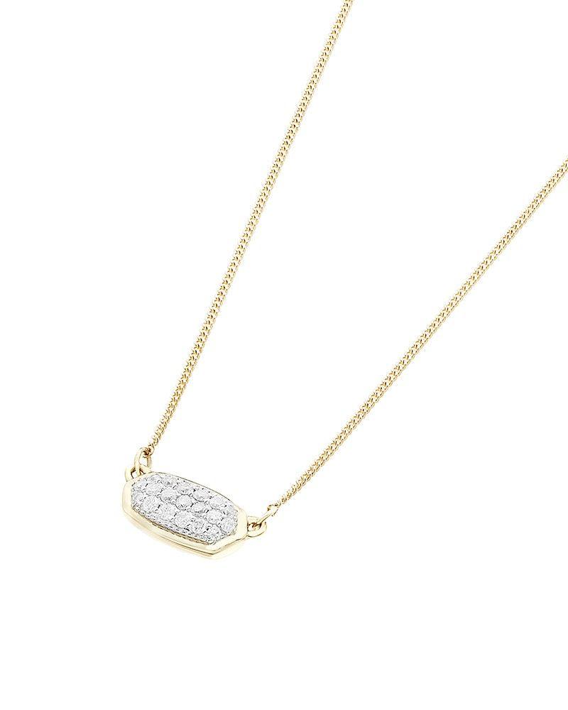 b90653b8e8c79 Lisa Pendant Necklace in Pavé Diamonds and 14K Yellow Gold - Kendra ...