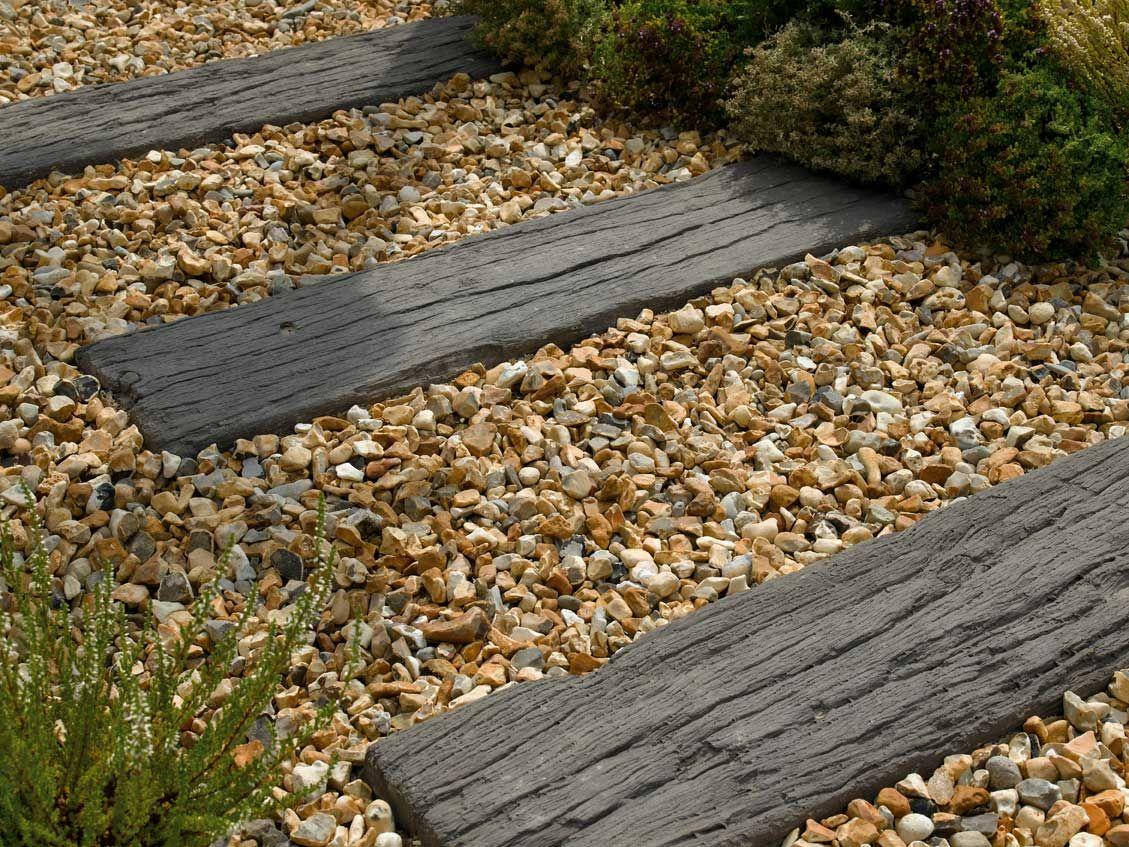 Log Sleeper 900 x 225 x 40 Wood Effect Paving- Gardenstone ...