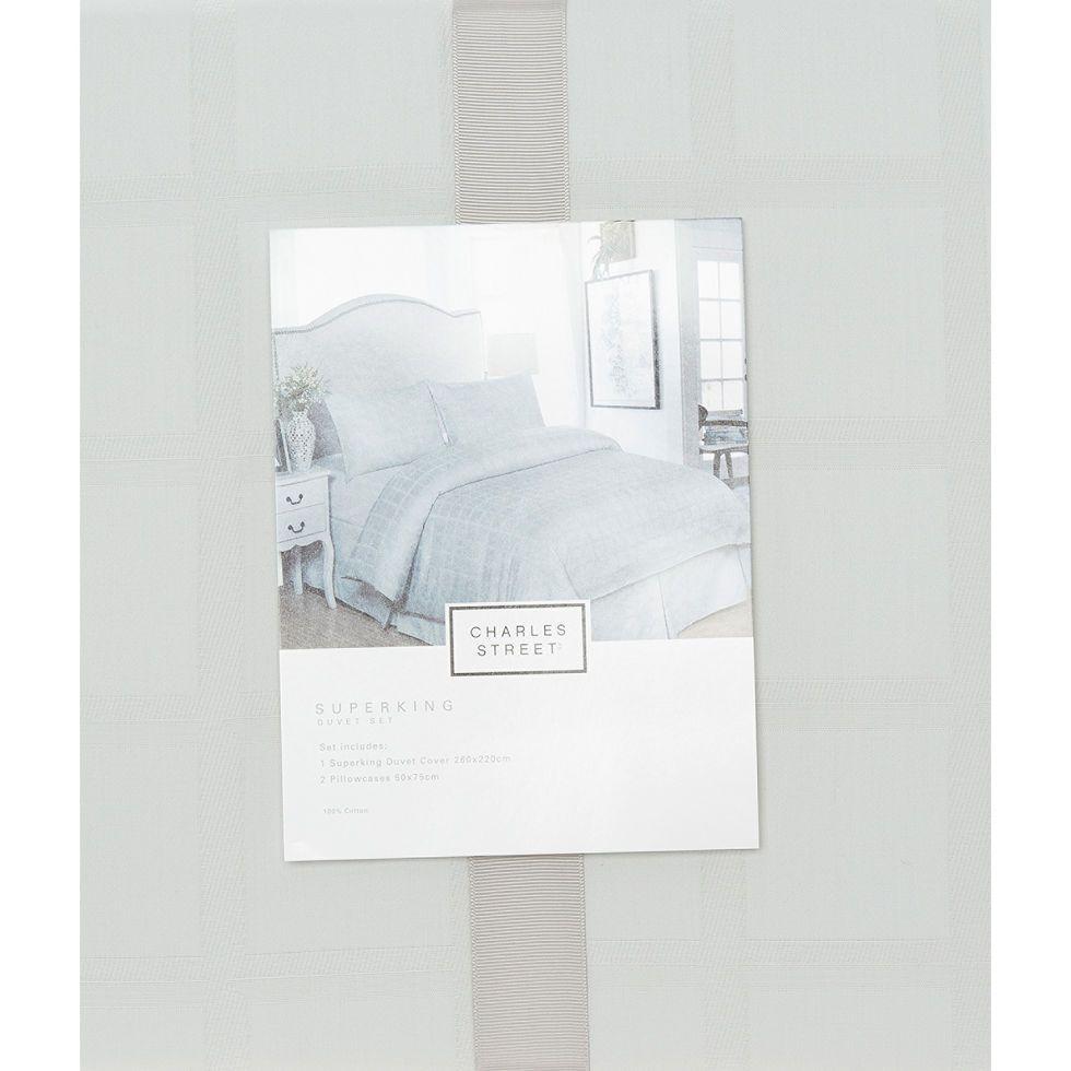 Super King Grey 300TC Duvet Set - Bed Linen - Bed & Bath - Home - TK ...