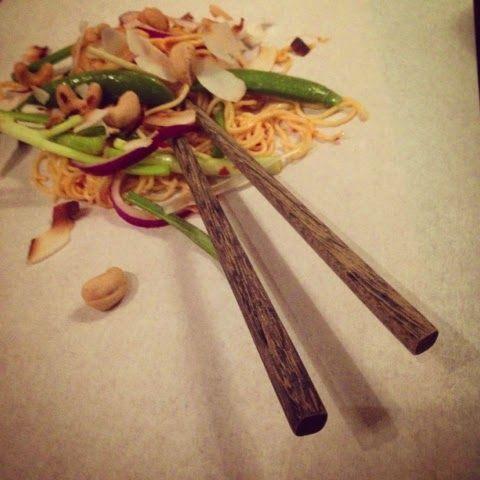 Mine matskriblerier: Singapore nudelsalat med cashew