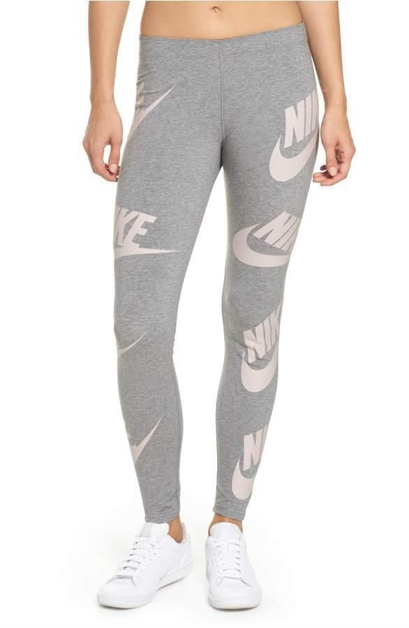 5c27aea68b3ad NIKE Graphic Sportswear Leggings Grey/Pink Women's Size Small True to Fit  NWT#ad $39.99 FREE USA SHIPPING!