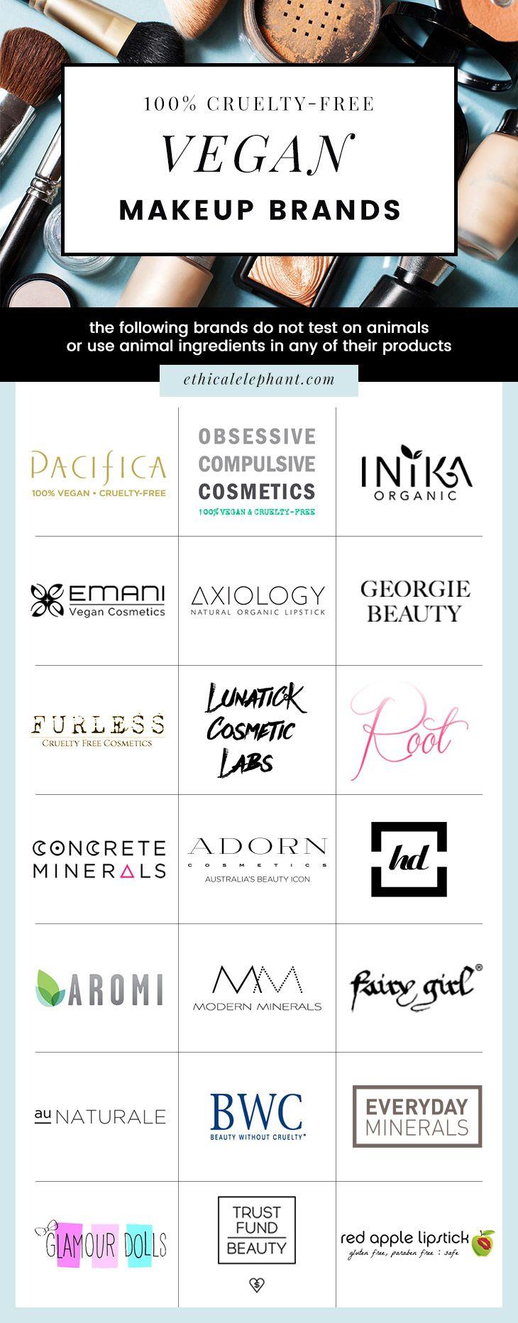Ultimate List Of 100 Vegan Makeup Skincare Beauty Brands Vegan Makeup Brands Vegan Makeup Makeup Brands