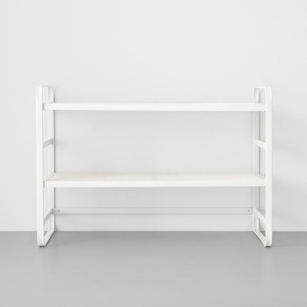 Two Tier Wire Mesh Shoe Rack White Made By Design Metal Shoe Rack White Shoe Rack Mesh Shoes