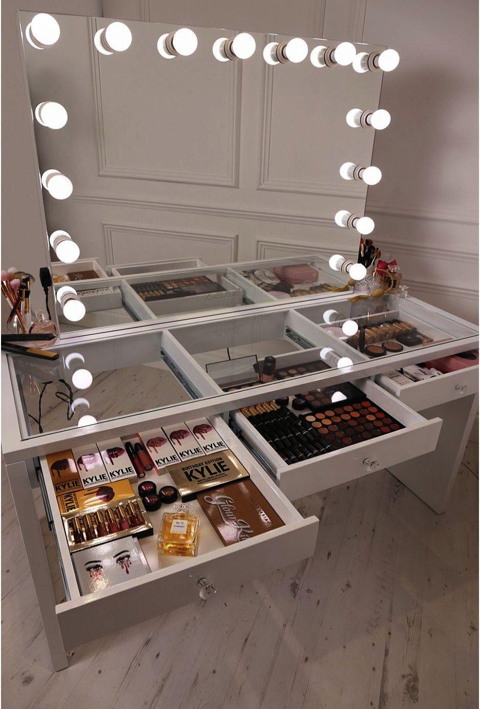 Makeup Organization Tumblr Makeup Kit Storage Box Diy Vanity Mirror Makeup Table Vanity Glam Room
