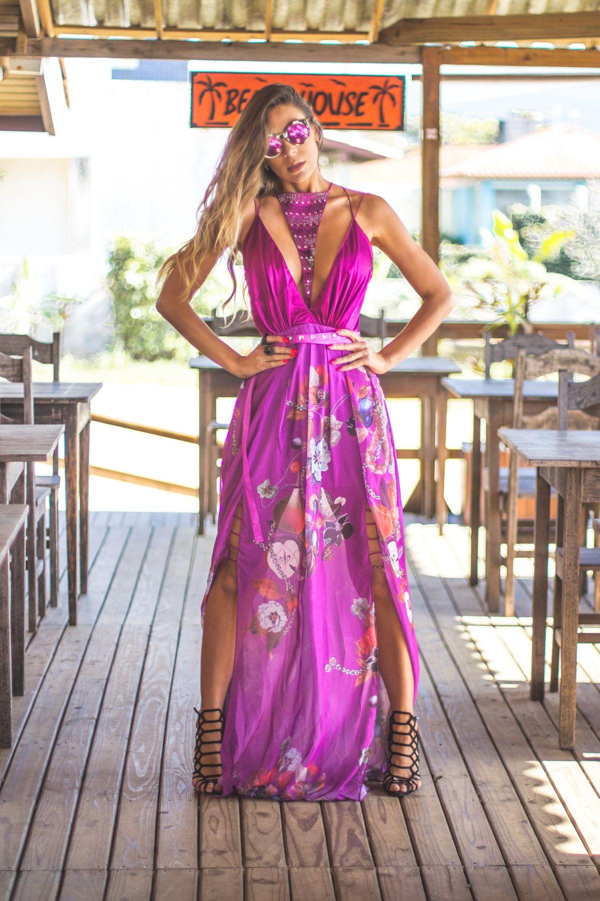 Vestido para casamento de dia | Vestiditos, Púrpura y Vestidos de noche