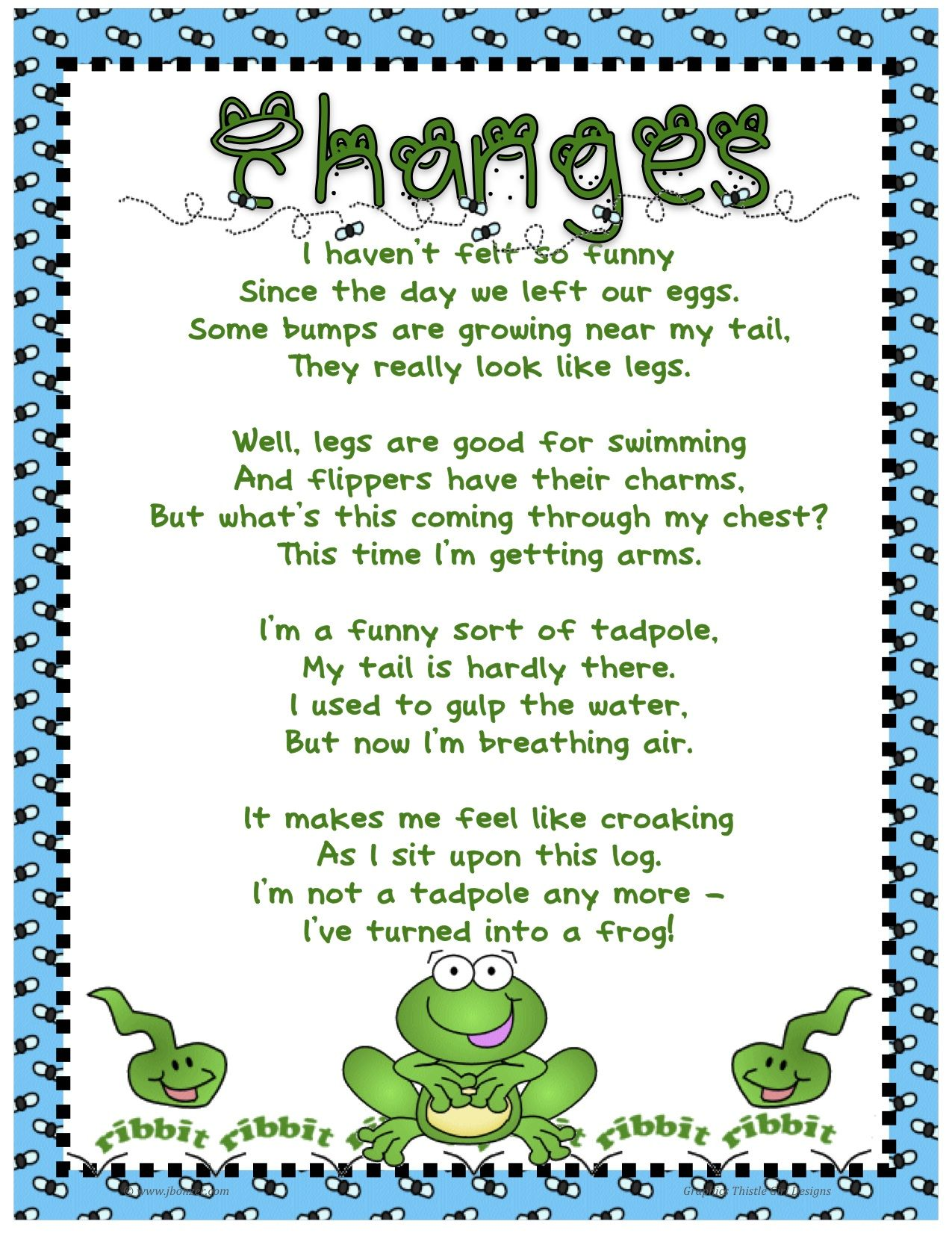 frog poem for kindergarten - Google Search | Teaching Stuff ...