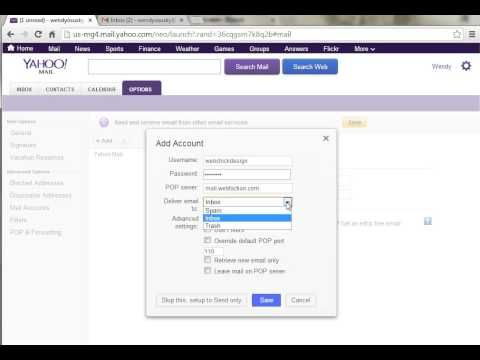 Tutorial Yahoo! Mail - Add additional email accounts to your