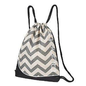 Amazon.com  Runetz - Chevron GRAY Gym Sack Bag Drawstring Backpack ... adef1c2ccf3df