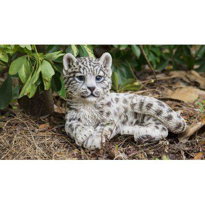 Hi-Line Gift Ltd. Snow Leopard Cub Statue | Wayfair