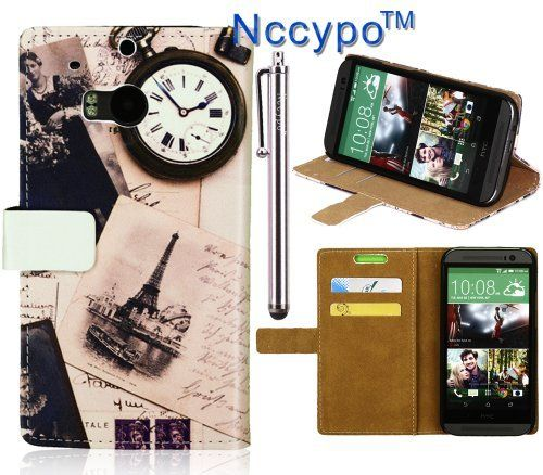 HTC One M8 Case, Nccypo Feather Eiffel Tower Stand Leather Wallet Case Cover with ID Cards Slots and Stylus for Phone HTC ONE M8, http://www.amazon.com/dp/B00K2RF2Y0/ref=cm_sw_r_pi_awdm_BL7Gub1QA17WN