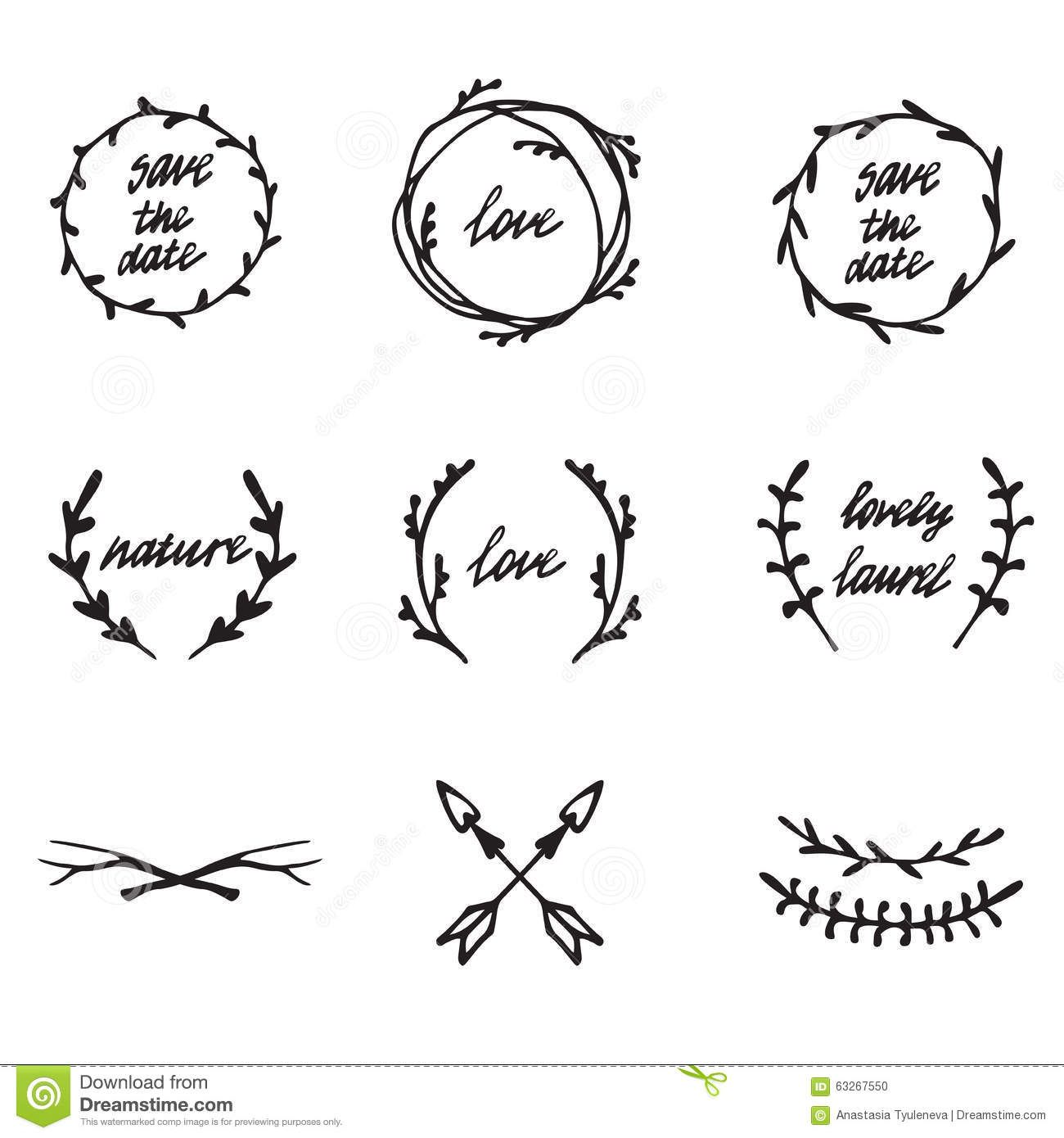 Ancient Wreath Text Dividers And Borders With Laurel