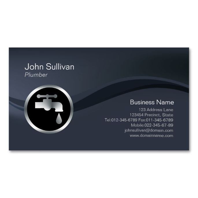 Chrome Faucet Icon Plumber Business Card Zazzle Com In 2021 Chrome Faucet Plumber Plumbing Logo
