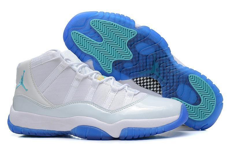 ba3136424750 Air Jordan 11 men blue white sneakers are high quality