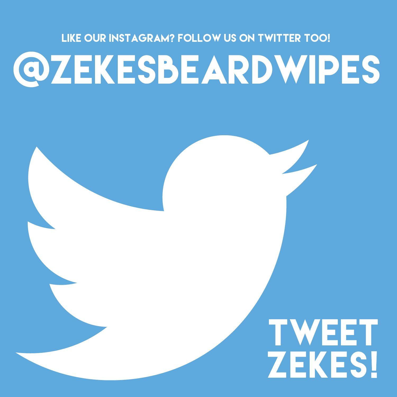 Keep up with Zekes Beard Wipes on Twitter! http://www.twitter.com/zekesbeardwipes