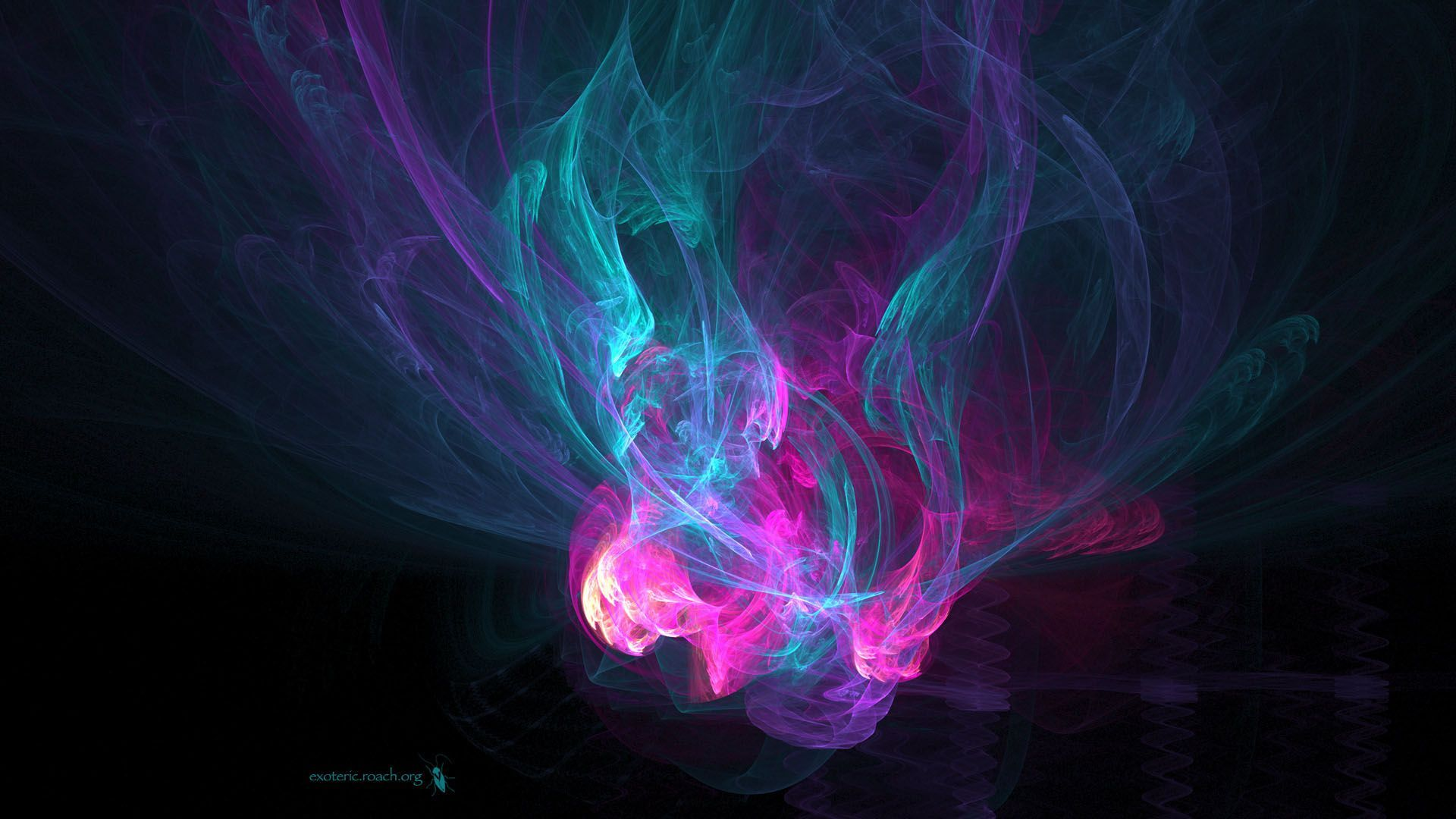 Exoteric Multicolor Blue and Pink HD Wallpaper » FullHDWpp