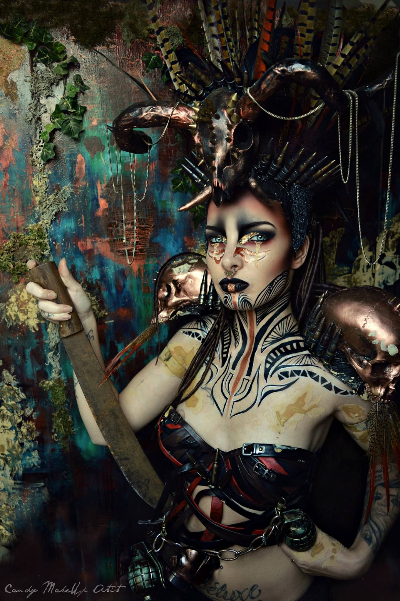 MAD MAX  Model : lioramour  Make-up/ styling/ photo: candy makeup artist   Want to buy handmade styling/ headdresses, or hire me? Click on the link!