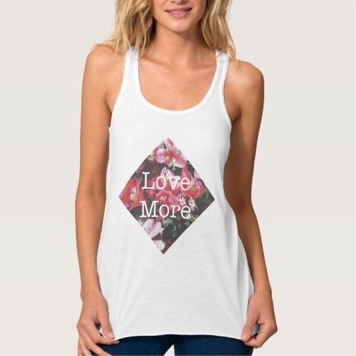 Love More Summer Flowy Racerback Tank Top Tank Tops
