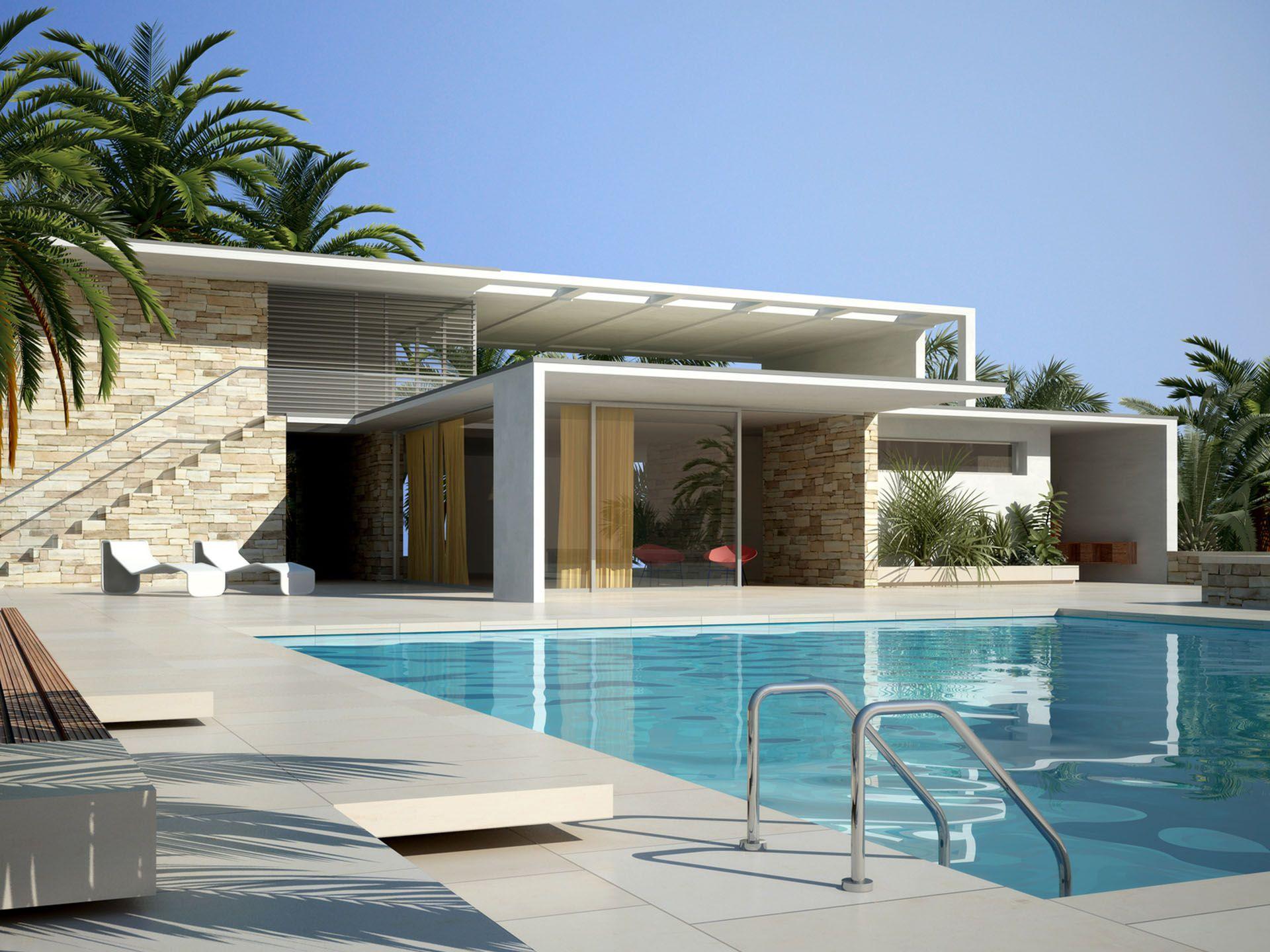 Maison moderne arches cubiques architecture façade pinterest villa de reve villa et terrain en pente