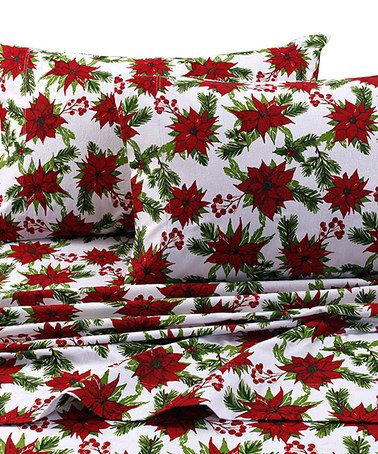 Another great find on #zulily! Christmas Joy 170-GSM Deep Pocket Flannel Sheet Set #zulilyfinds
