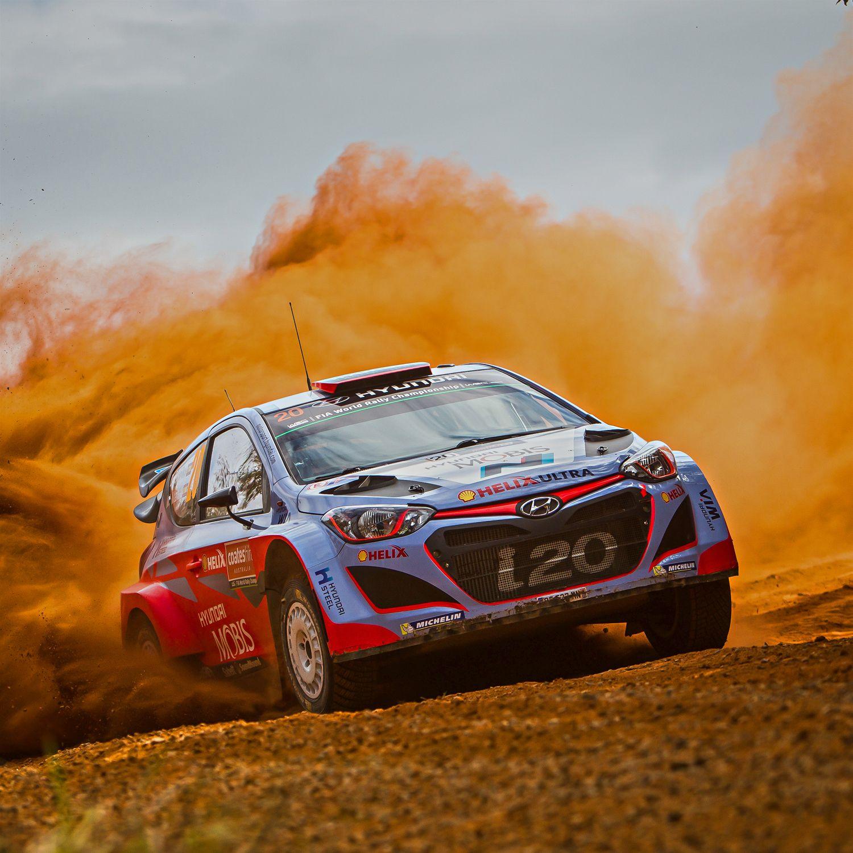 2015 WRC 호주 랠리 i20! 모래폭풍과 거친 바위를 헤치며 거침없이 달린다