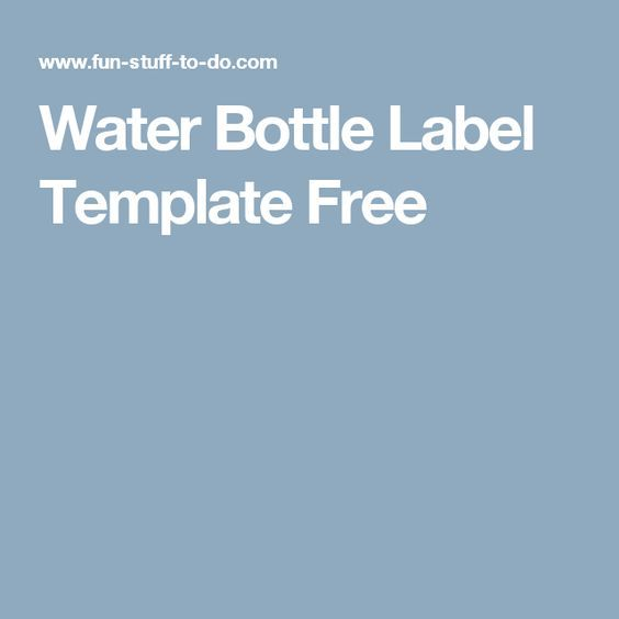 water bottle label template free 90th birthday party ideas
