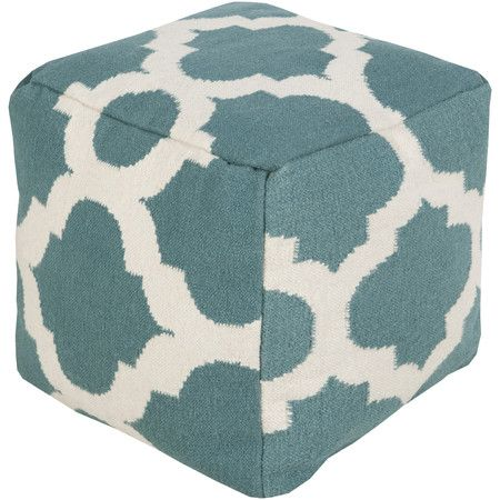 Whether it's a spot to kick up your feet in the den or a fashionable (and kid-friendly) addition to your little one's playroom, this wool pouf pairs chic sty...