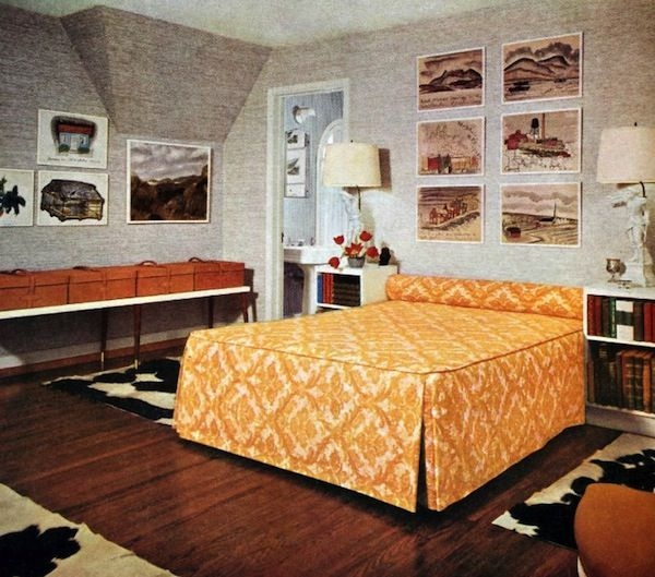 Retro Midcentury Modern Vintage Interior Design 60s Bedroom