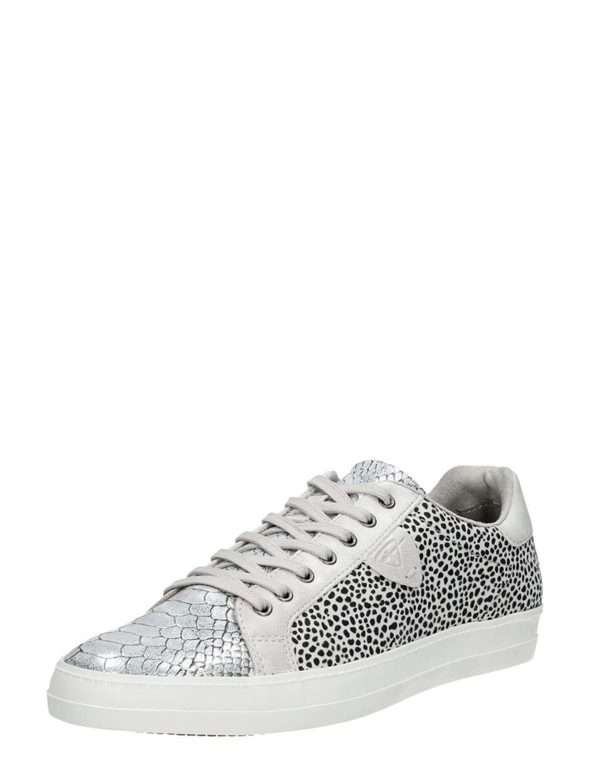 Black & White dames sneakers met dierenprint van Tamaris