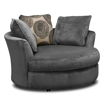 Catalina Gray Upholstery Swivel Chair Furniture Com 549