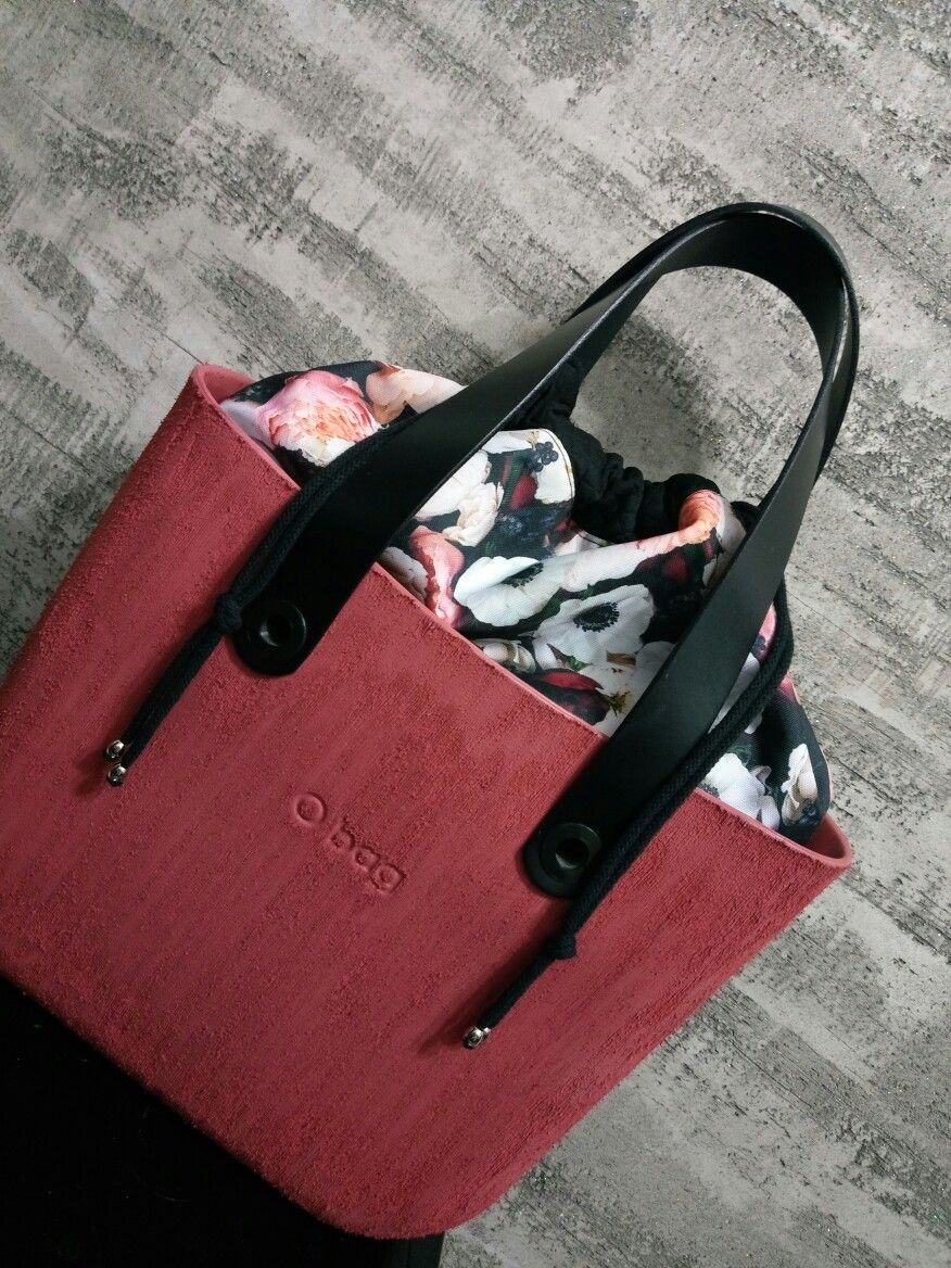 Obag Standard Marsala With Flowers O Bag Bags My Bags