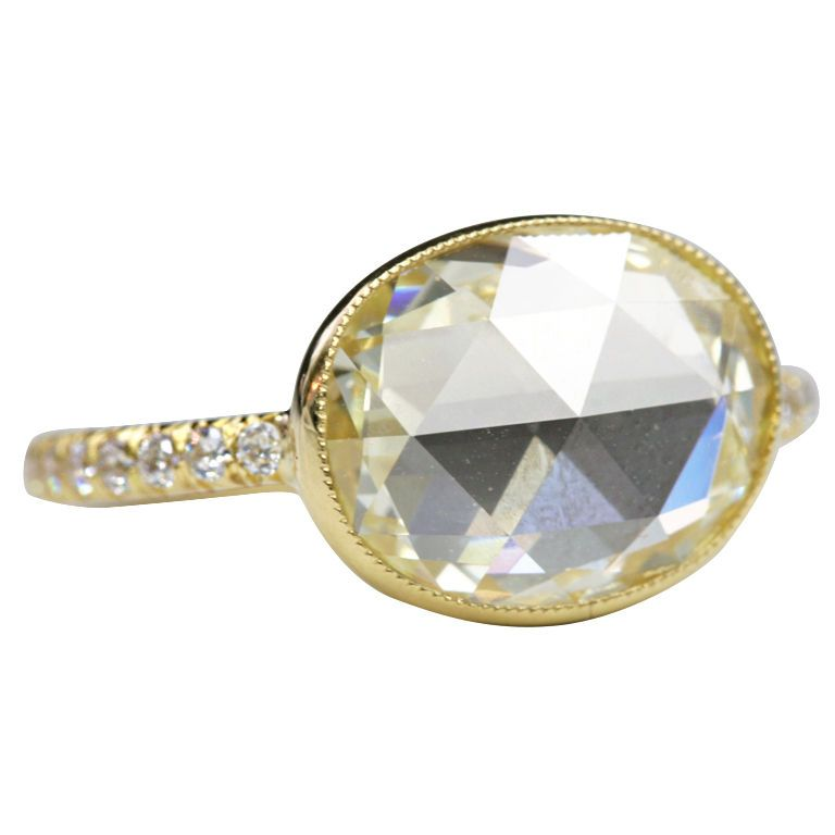 158f4413b584f Yellow Rose Cut Diamond Ring | Fine Jewelry | Sapphire, diamond ...