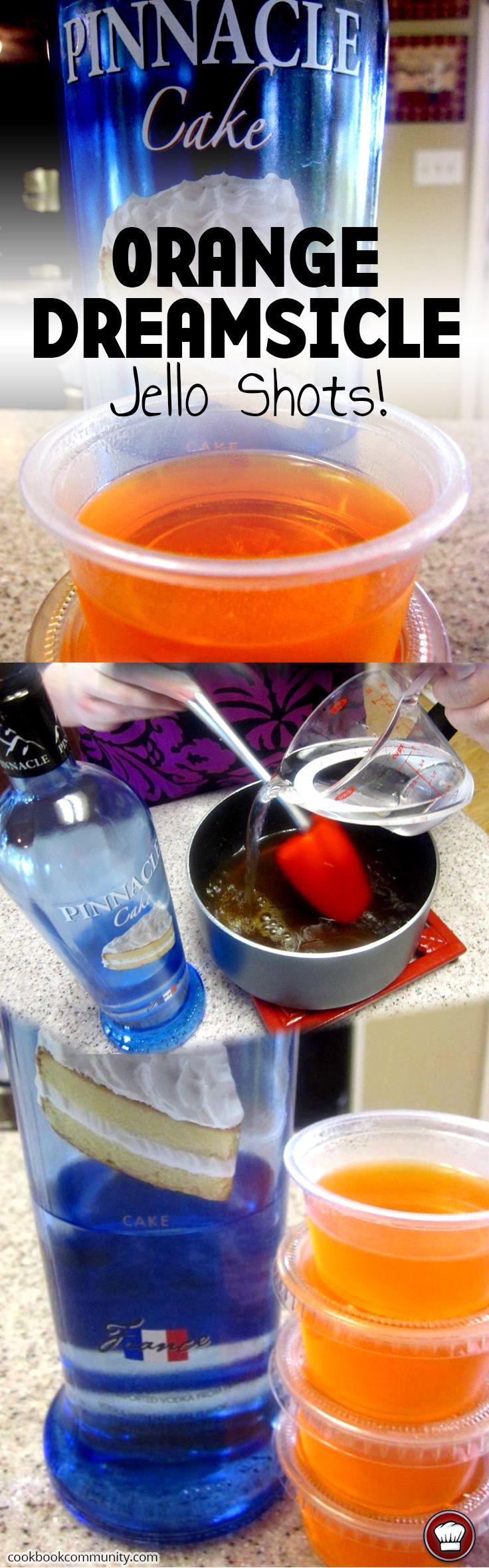 Orange Dreamsicle Jello Shots Recipe Drinks Jello