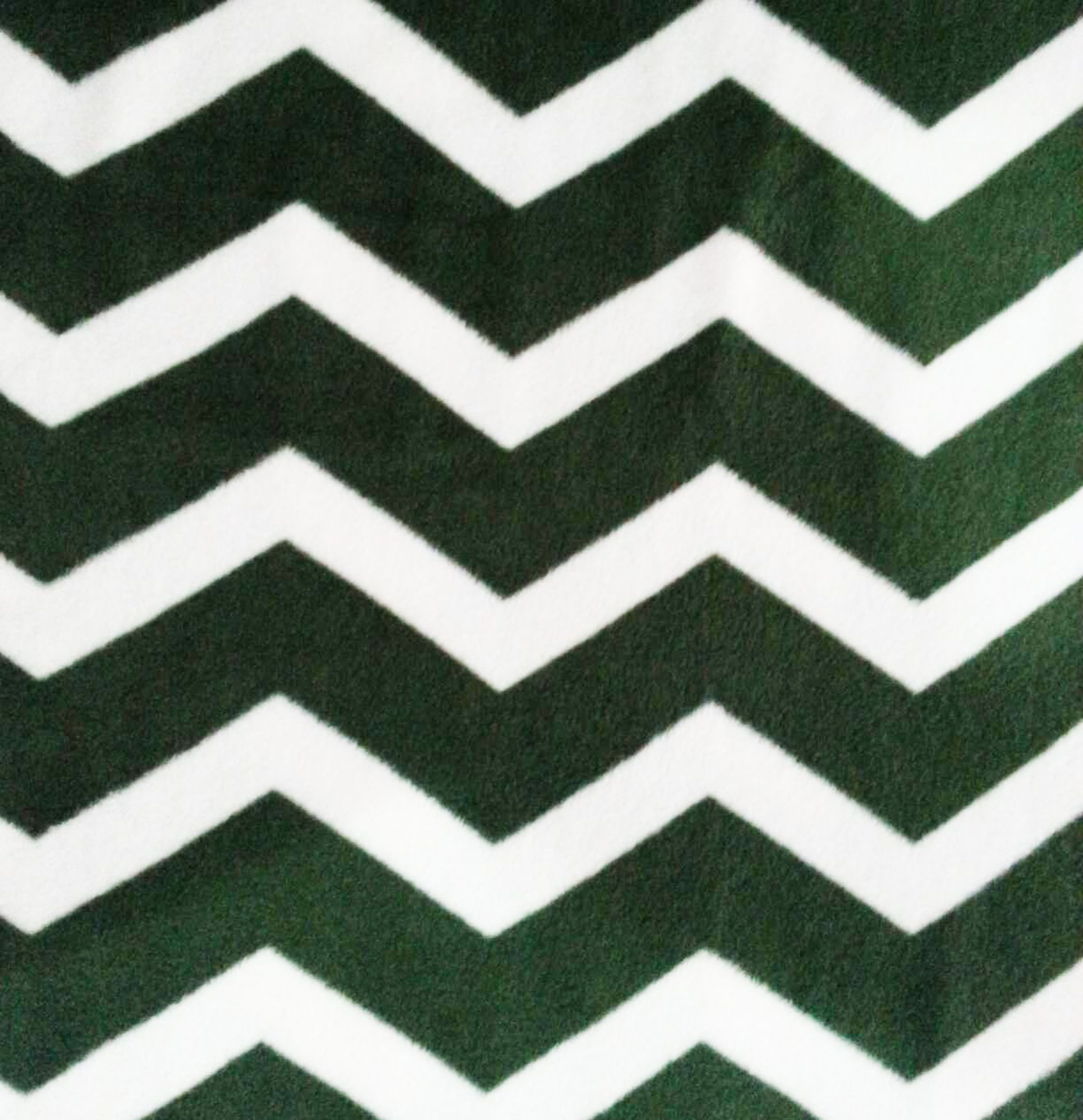 Anti Pill Fleece Fabric- Green & White Chevron, , hi-res | Sewing ...