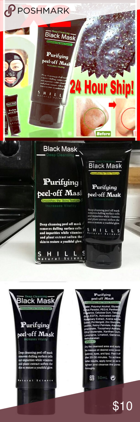 Two 50ml Bottles of Shills Black Mask Black Head R X 2 Boxes included in this offer.  With legions of fans, the FAMOUS & 100% GENUINE black peel-off mask from Shills is here. The ORIGINAL Shills Deep Cleansing Purifying Peel-Off Black Face Mask has earned its superstar status by being the ultimate blackhead-buster. Specially-formulated to unblock clogged pores by peeling blackheads, dirt and spot-causing bacteria away. Activated bamboo charcoal acts like a magnet to draw out the most…