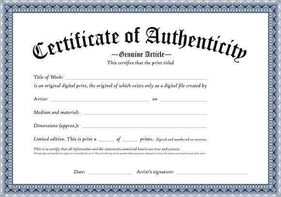 certificate of authenticity template great printable.html