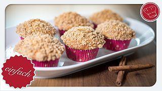 Apfelmus-Muffins mit Zimt-Streuseln | elegant-kochen.de | Bloglovin'