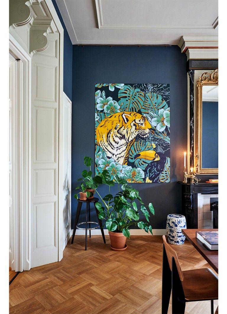 Ixxi Tiger Jungle Wanddecoratie 120 X 160 Cm Okergeel De Bijenkorf Kantoor Aan Huis Decor Woonkamer Wanddecoratie Interieur Woonkamer