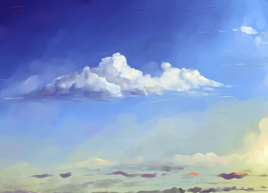 How To Make An Acrylic Painting Cloudy