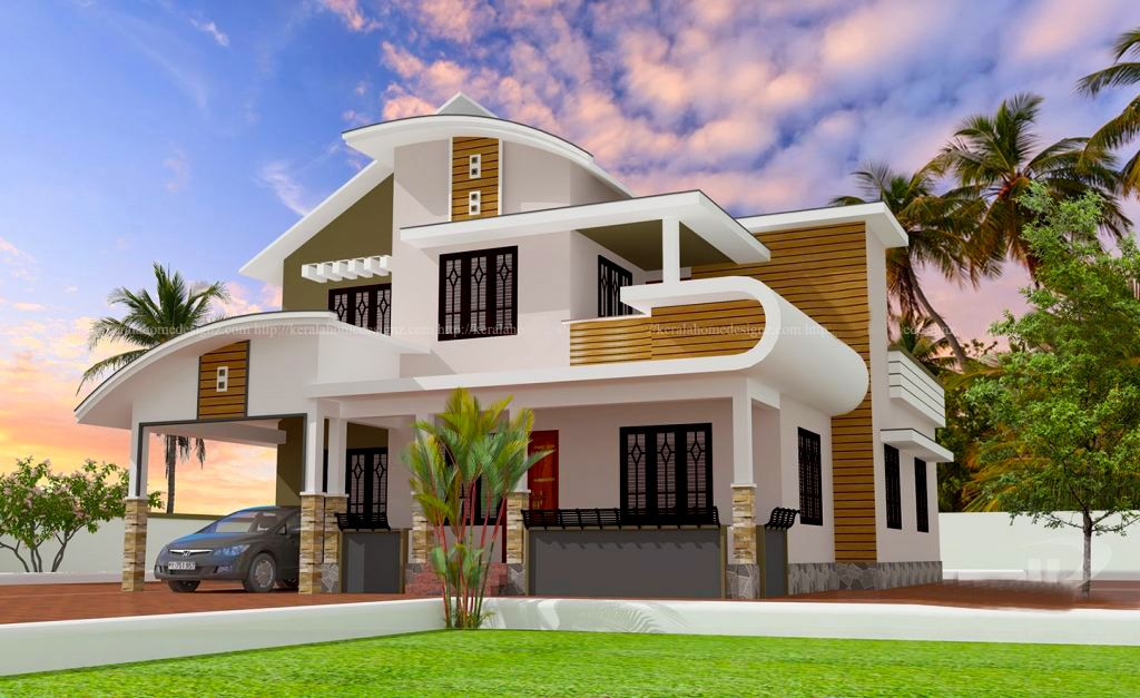 Latest House Plan Download 2200 Sq Feet In 14 Lakhs Kerala House Design House Designs Exterior Modern Bungalow House Design