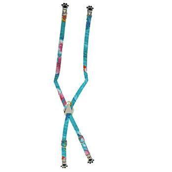 Dog Suspenders - Blue Hawaiian