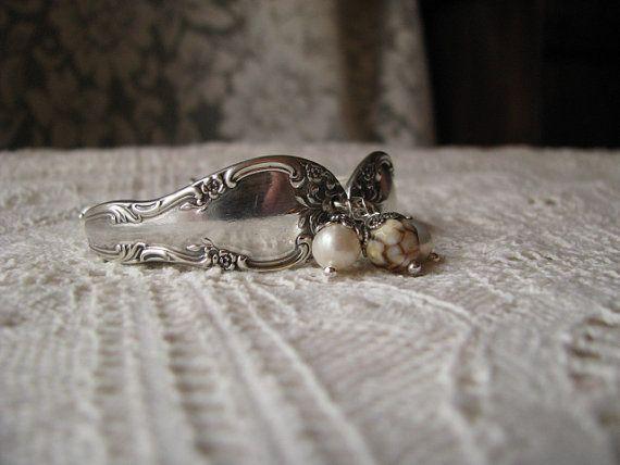 Spoon Bracelet  Spoon Jewelry  Antique Silver by TheBeadLadies, $34.00