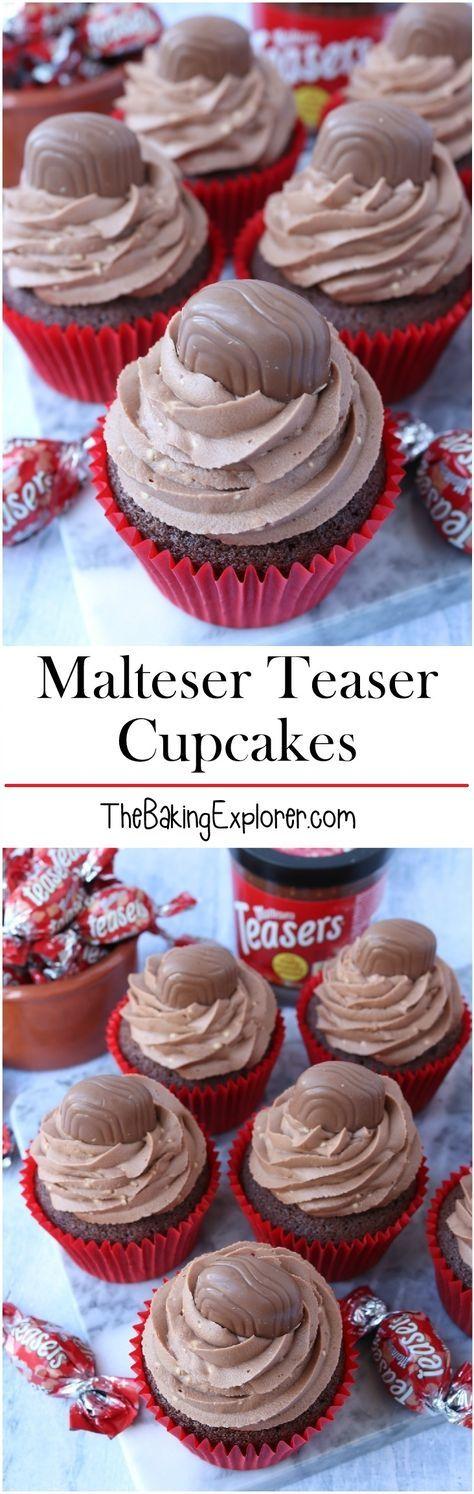Malteser Teaser Cupcakes Recipe Baking Yummy Cupcakes