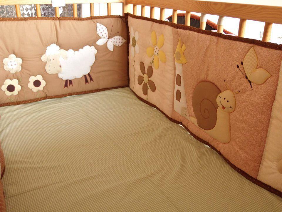 Protector de cuna trabajos en patchwork pinterest protectores de cuna bebe y para bebes - Protectores para cama cuna ...