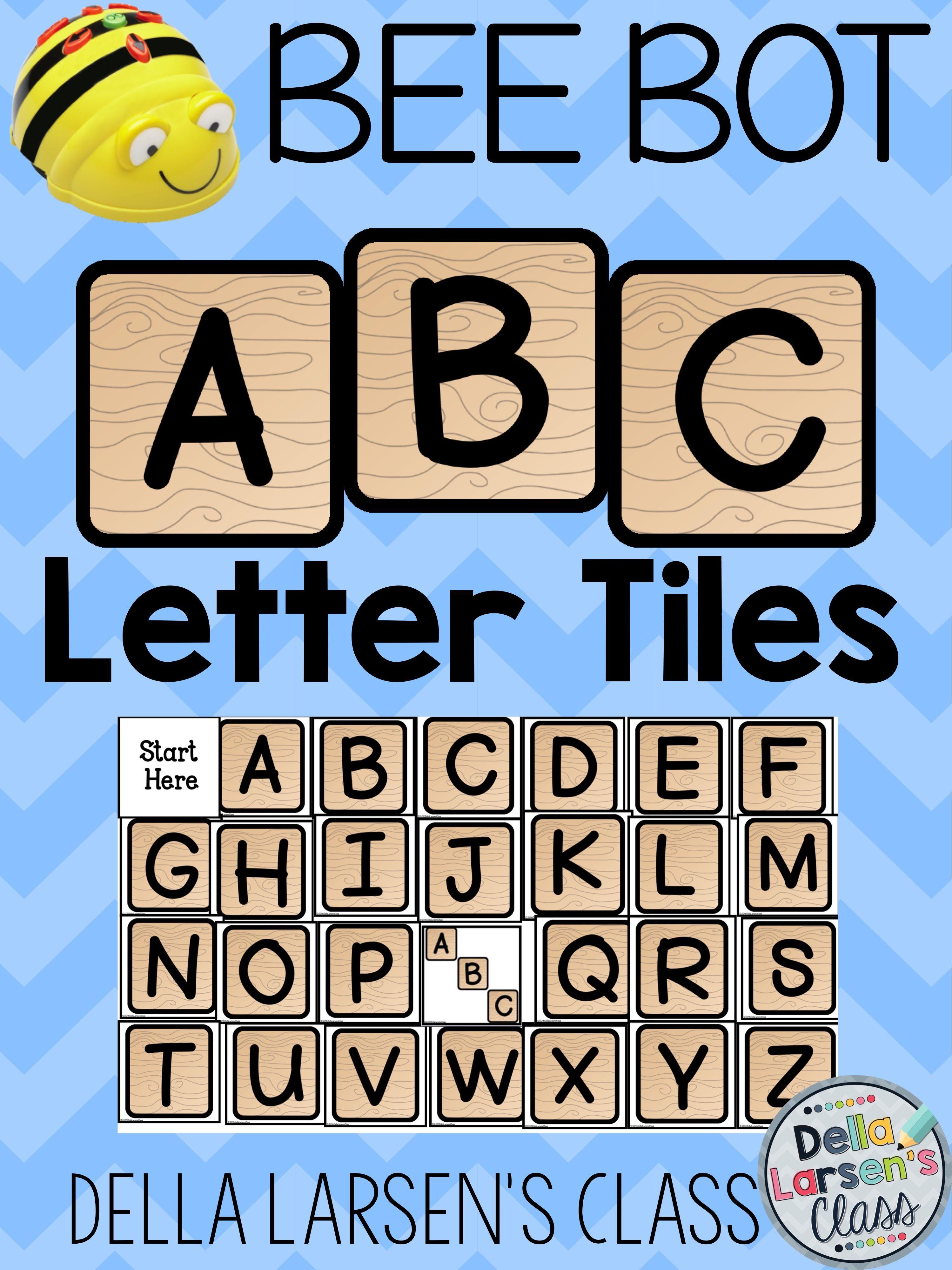 Bee Bot Abc Alphabet Letter Tiles