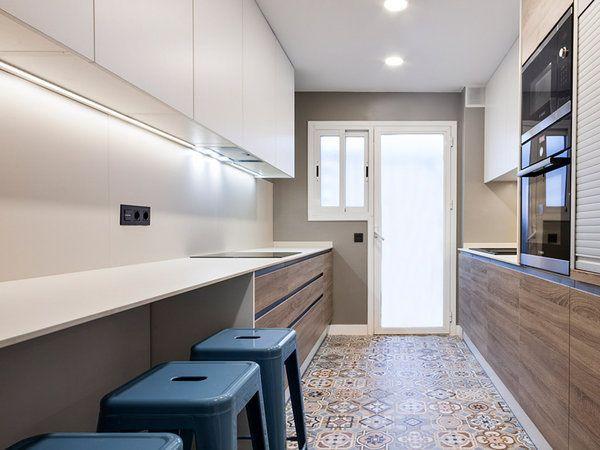 la cocina de planta rectangular - Cocinas Rectangulares
