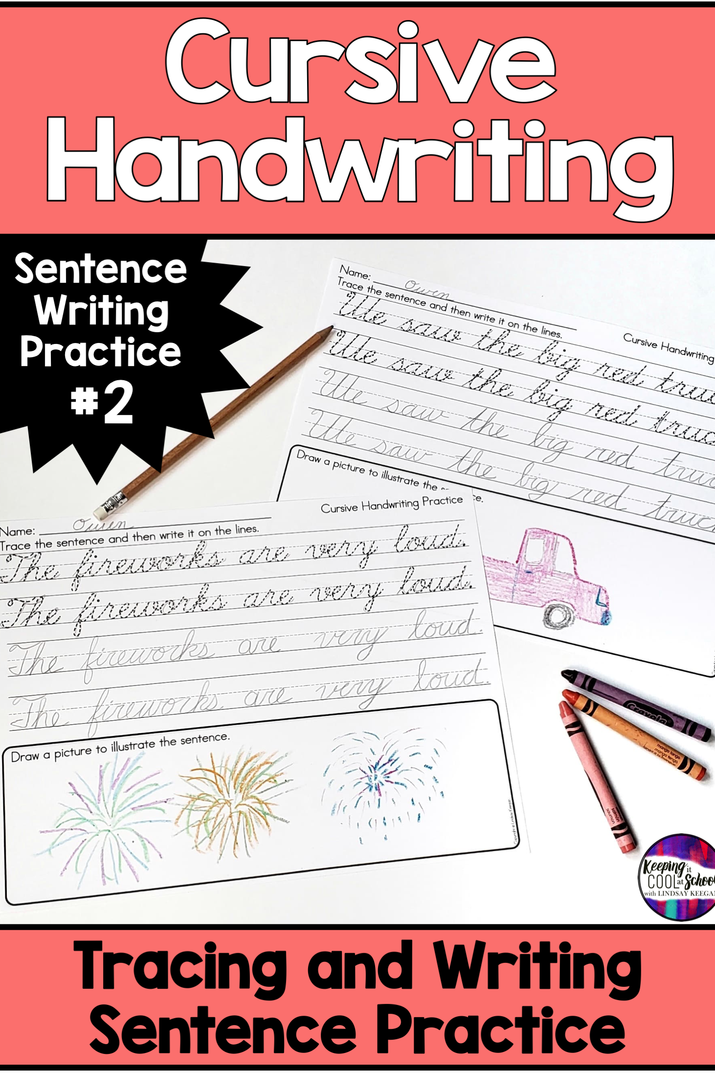 Cursive Handwriting Practice With Sentence Writing Part 2