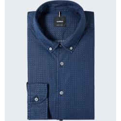 Photo of Clark shirt, blue, patterned StrellsonStrellson