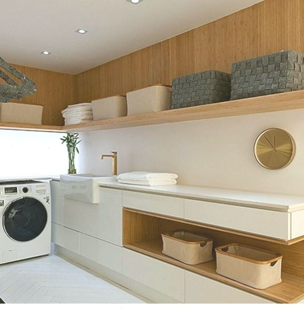 Classy Laundry Room Update Showing Off Minimalist & Modern ...