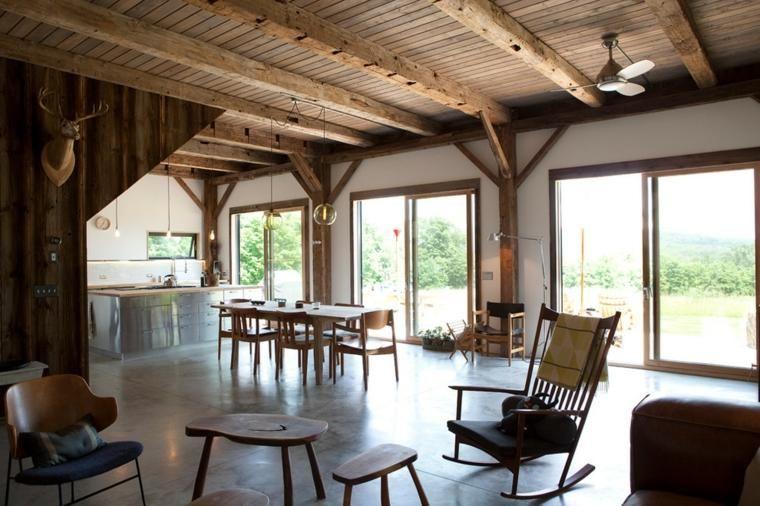 Rustikales Holz für die Inneneinrichtung - 38 Ideen Haus